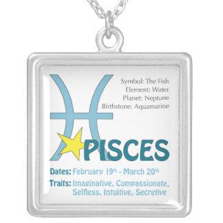 Pisces Traits Square Necklace