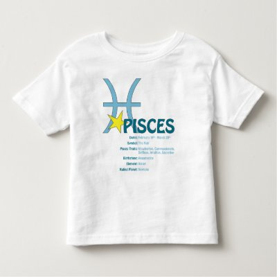 Pisces Traits Kids T-Shirt | Zazzle com