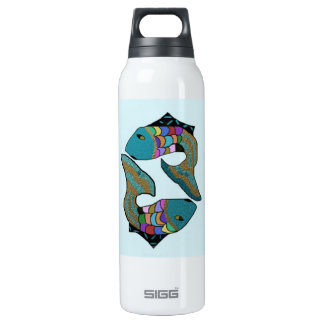 Pisces Twins 16 Oz Insulated SIGG Thermos Water Bottle