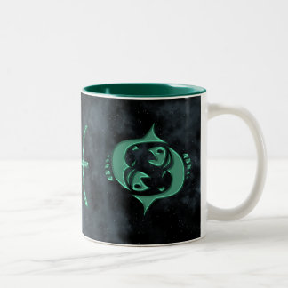 Pisces Two-Tone Coffee Mug