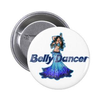 Pisces Vintage Belly Dancer Pinback Button