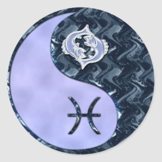 Pisces yin yang gifts on zazzle pisces yin yang classic round sticker sciox Gallery