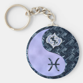 Pisces Yin Yang Keychain