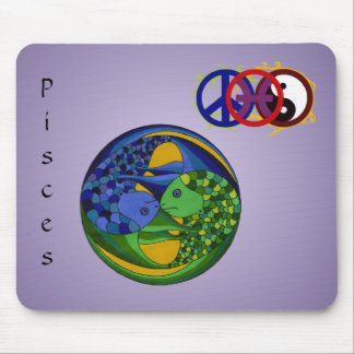 Pisces Yin Yang Mouse Pad