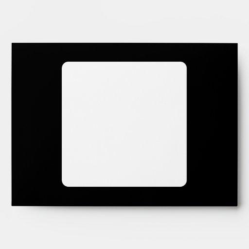 Pisces. Zodiac Astrology Sign. Black. Envelope