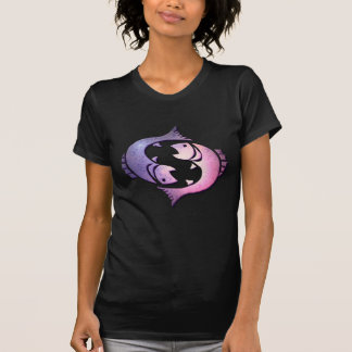Pisces Zodiac Black Ladies Fitted T-Shirt
