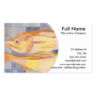 Pisces Zodiac Business Card