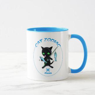 Pisces Zodiac Cat mug