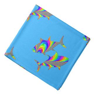 Pisces Zodiac Design Blue Bandana