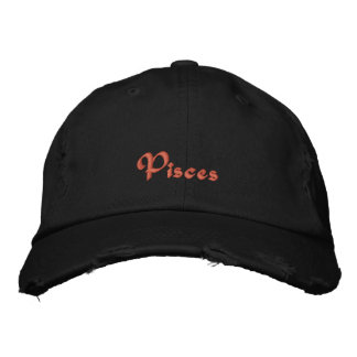 Pisces Zodiac Embroidered Cap / Hat Embroidered Hats