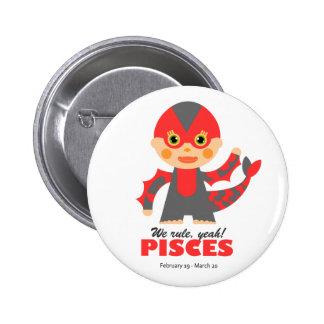 Pisces Zodiac for kids Buttons