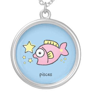 Pisces Zodiac Kids Cartoon Pendant Necklace