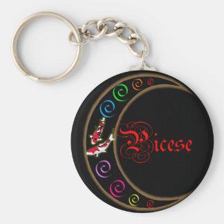 Pisces Zodiac Moon Key Chain