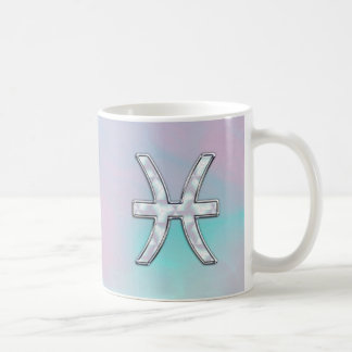 Pisces Zodiac Mother of Pearl Style Decor Coffee Mug