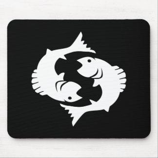Pisces Zodiac Pictogram Mousepad
