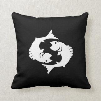 Pisces Zodiac Pictogram Throw Pillow