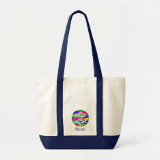 Pisces Zodiac Rainbow Fish Crafts And Shopping Tote Bag at Zazzle