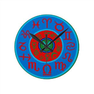 Pisces Zodiac Round Clock