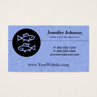 Pisces Zodiac Sign Business Card