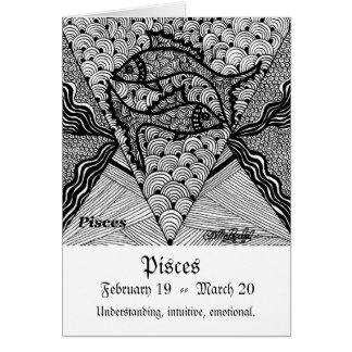 Pisces  (Zodiac sign) Card