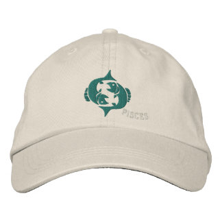 Pisces Zodiac Sign Embroidery Feb 19 - March 20 Embroidered Baseball Cap