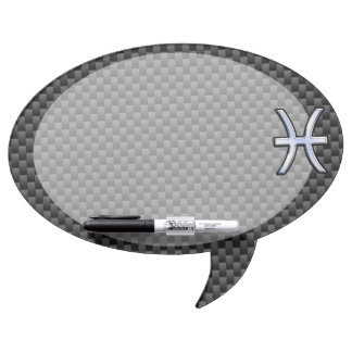 Pisces Zodiac Sign in Carbon Fiber Style Dry Erase Board