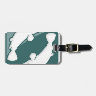 Pisces Zodiac Sign Luggage Tag