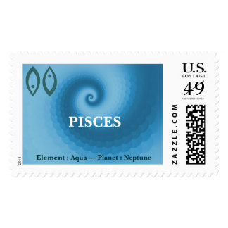 Pisces Zodiac Sign Postage Stamp