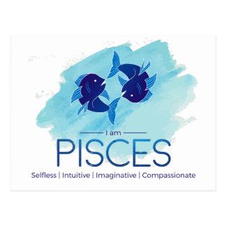 Pisces zodiac sign postcard
