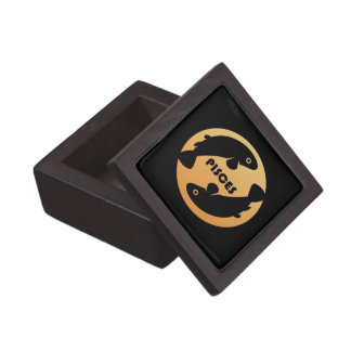 Pisces Zodiac Sign Premium Keepsake Box
