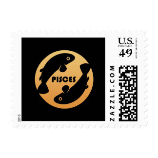 Pisces Zodiac Sign Stamp