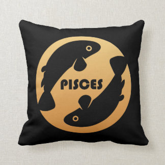 Pisces Zodiac Sign Throw Pillow