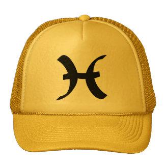 Pisces Zodiac Sign Yellow Gold Trucker Hat
