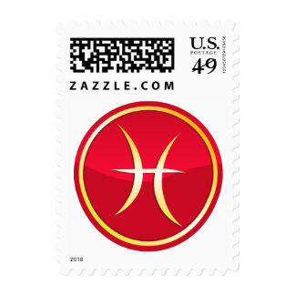 Pisces - Zodiac Signs Postage