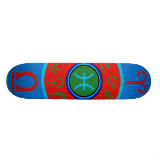 Pisces Zodiac Skateboard