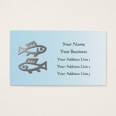 Pisces Zodiac Star Sign In Light Silver Blue Business Card at Zazzle