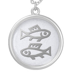 Pisces Zodiac Star Sign In Light Silver Jewelry at Zazzle