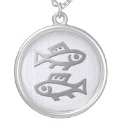 Pisces Zodiac Star Sign In Light Silver necklaces