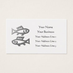Pisces Zodiac Star Sign In Light Silver On Gold Business Card at Zazzle