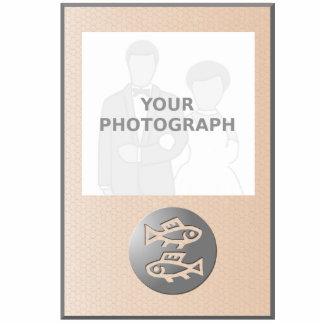 Pisces Zodiac Star Sign Premium Silver Standing Photo Sculpture