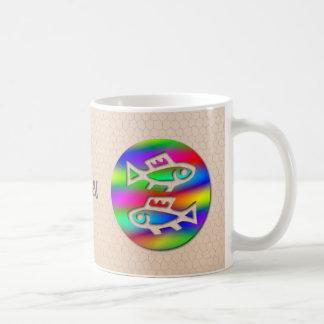 Pisces Zodiac Star Sign Rainbow Fish Ceramic Tea Coffee Mugs