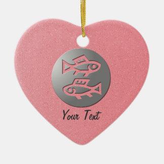 Pisces Zodiac Star Sign Romantic Ornament