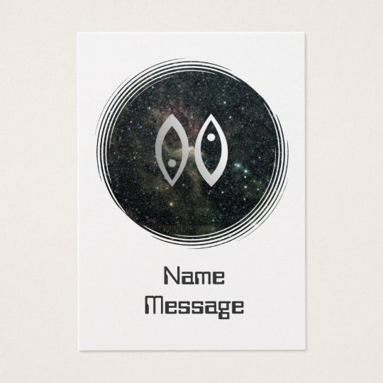 Pisces Zodiac Star Sign Universe Business Card