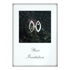 Pisces Zodiac Star Sign Universe Party Event Card at Zazzle