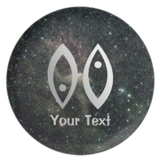 Pisces Zodiac Star Sign Universe Plate