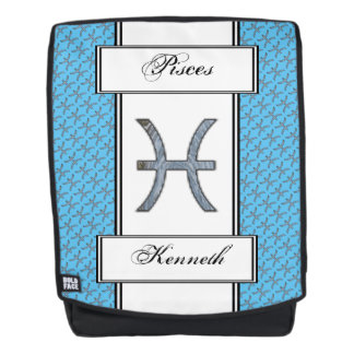 Pisces Zodiac Symbol Element by Kenneth Yoncich Backpack