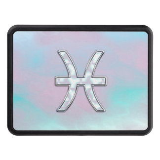 Pisces Zodiac Symbol Mother of Pearl Decor Tow Hitch Cover
