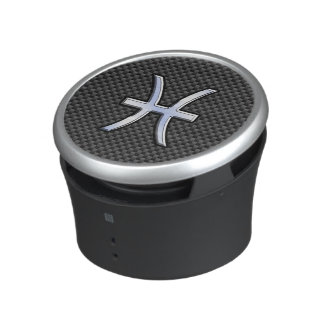 Pisces Zodiac Symbol on Carbon Fiber Print Speaker