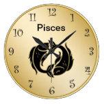 Pisces Zodiac Wall Clock