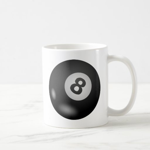 Piscina - bola ocho taza de café